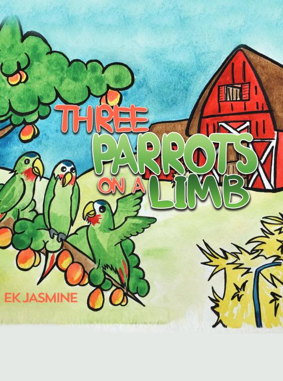 Three Parrots on a Limb